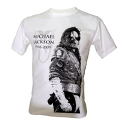 Immortal Homme Michael Jackson Mj King Of Pop Legend T-shirt V3 Blanc Taille 50