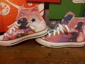 Converse All Star Chaussures Coutume (produit Artisanal) Michael Jackson Style