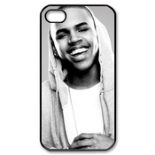 Ctslr Pop Singer Star Series Protective Hard Back Plastic Case Cover For Iphone 4 4s 4g - 1 Pack - Chris Brown - 04