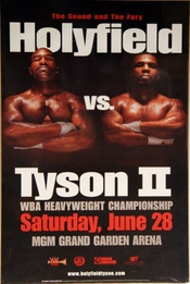 Evander Holyfield Vs Mike Tyson Reproduction Boxing Photo Poster 40x30 Cm
