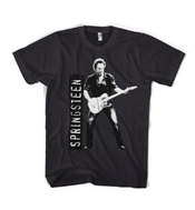Bruce Springsteen Portrait Standing With Guitar T Shirt