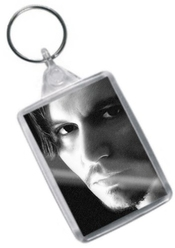 Johnny Depp - Original Art Keyring #js002