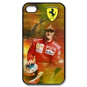 Custom German F1 Legend Rider Michael Schumacher Black Plastic Case For Iphone 4 4s Cover