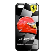 Custom German F1 Legend Rider Michael Schumacher Black Rubber Case For Iphone 5 5s Cover