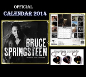 Bruce Springsteen 2014 Offizieller Calendrier By Dream + 3 Bruce Springsteen Porte Cles Forme Coeur En