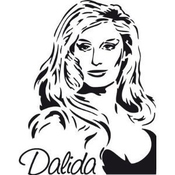 Sticker Dalida Xl (40cmx50cm)