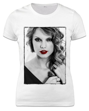 T-shirt Taylor Swift Red Lips Femme