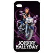 Coque Lenticulaire Iphone 4/4s Johnny Hallyday Moto