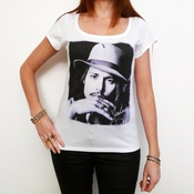 Johnny Depp : T-shirt Femme Célébrité One In The City