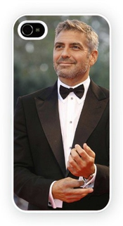 George Clooney B Iconic Male Moviestars Iphone Case Pour Iphone 4 Et 4s