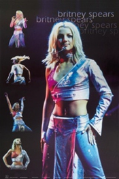 1art1 764 Poster Britney Spears Live Collage 91 X 61 Cm