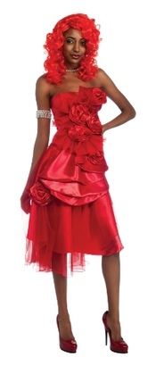Rihanna - I-880619std - Déguisement - Robe - Rouge - Taille Std