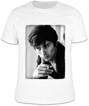 Alain Delon Black White Portrait T-shirt - Homme