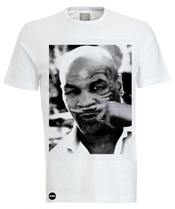 Iconic Mike Tyson Moustache Joke Crew Neck T-shirt