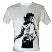Lectro Homme Michael Jackson Mj King Of Pop Legend T-shirt V1 Blance Taille 60