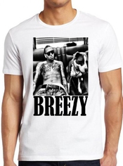 Chris Brown Breexy Sexy Smoking Dog Rihanna Novelty T-shirt Unisex Men Women