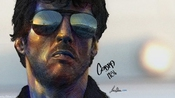 Poster A3 Actor Sylvester Stallone Cobra Wall Art Print By Leo Aba