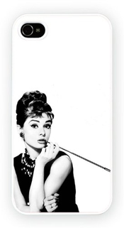Iphone 4 Ou 4s, Breakfast At Tiffanys Audrey Hepburn Art Design, Nouveau Printed Cas Dur De Téléphone - Coque De Protection - Installez Le - Haut Quaility
