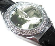 Montre-bracelet Montre Femmes Cadeau Noël Sus129 New Leather 118 Pcs Diamond Crystal Watch / James Dean