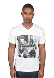 James Dean Style Icon Graphic V-neck T-shirt Jimmy Actor Rebel History Rock Pop