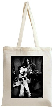 Neil Young Country Music Legend Tote Bag
