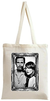 Dam Apparel Ryan Gosling And Emma Stone Portrait Tote Bag