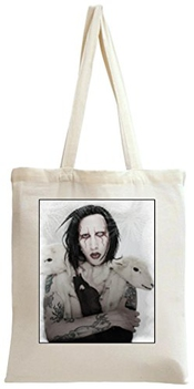 Dam Apparel Marilyn Manson Holding Sheep Tote Bag