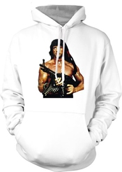 John Rambo With Gun - Sylvester Stallone Hommes Hoodie
