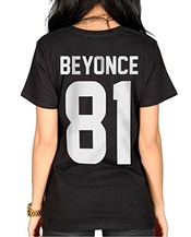Beyonce 81 Birth Year Numbers Womens T-shirt Clothing Tee Ladies