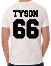 Iconic Mike Tyson Bold Back Nombre T-shirt