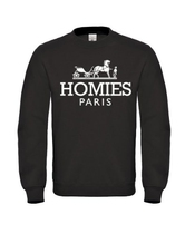 New Unisex Homies Paris Sweatshirt Funny Parody Sweater Chris Brown Dtg