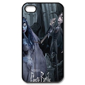 Custom Cartoon Love Music Style Movie Tim Burton's Corpse Bride Fashion Cell Phone Hard Plastic Cover Case (hd Image) For Iphone 4,4s