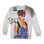 3d Rihanna Sweat M'aime Album Sweats Feminino Pull Femme