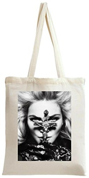 Madonna Cross Portrait Tote Bag