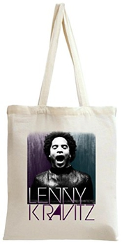 Lenny Kravitz Black White Portrait Tote Bag