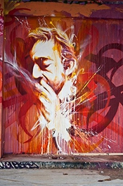 Tableau Tag Serge Gainsbourg - Toile Canvas 120 X 80 Cm