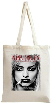 Dam Apparel Nina Hagen Punk Lady Portrait Tote Bag
