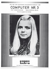 Computer Nr. 3: As Performed By France Gall, Single Songbook (german Edition)