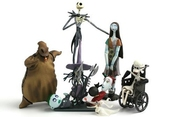 Tim Burton's The Nightmare Before Christmas Trading Figure Series 1 Set Of 6 By Jun Planning Toy (english Manual)