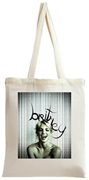 Britney Spears Laughting Portrait Tote Bag