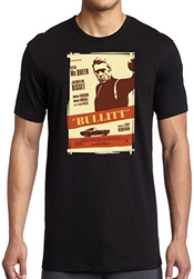 Steve Mcqueen - Bullit - Cream Movie Inspired - Dtg Print T-shirt