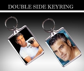 George Clooney Sexy Double Side Porte-clÉs - Keyring - 01