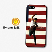 Bruce Springsteen Guitar American Flag Coque Pour Iphone 5 5s A5714