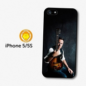 Bruce Springsteen Posing With A Guitar Coque Pour Iphone 5 5s A5716