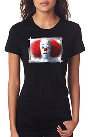Stephen King's It Pennywise Portrait - Dtg Print Femmes T-shirt