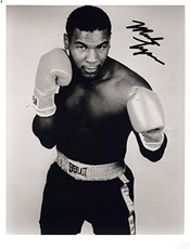 Mike Tyson Signature Autographe 25cm X 20cm Photo