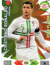 Adrenalyn Xl Road To 2014 World Cup Brazil #156 Cristiano Ronaldo Star Player