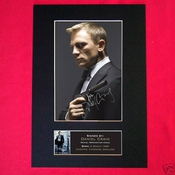 Daniel Craig Signed Autograph Mounted Photo Print