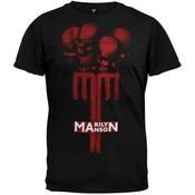 Old Glory Marilyn Manson - Mens Skull Cross T-shirt Large Black