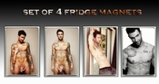 Adam Levine Sexy Set Of 4 Aimants De RÉfrigÉrateur (fridge Magnet) - 001